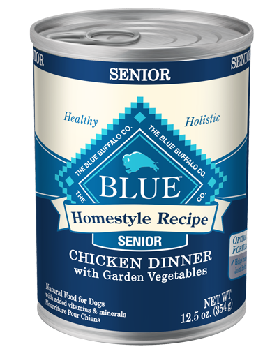 Picture of Blue Buffalo Homestyle Recipe Chicken Dinner with Garden Vegetables for Senior Dogs - 12.5 oz.