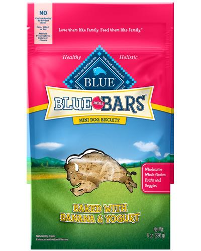 Picture of Blue Buffalo Mini Bars Banana and Yogurt Mini Dog Biscuits for Puppies - 8 oz.