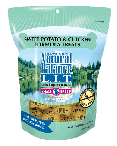 Picture of Natural Balance Limited Ingredient Treats Grain Free Sweet Potato and Chicken Formula for Small Breeds - 8 oz.