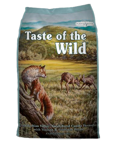 Picture of Taste Of The Wild Grain Free Small Breed Adult Appalachian Valley Recipe with Venison & Garbanzo Beans - 28 lbs.