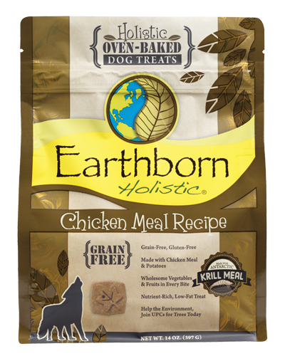 Picture of Earthborn Holistic Oven Baked Grain Free Chicken Meal Recipe Treats - 14 oz.