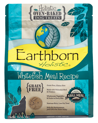 Picture of Earthborn Holistic Oven Baked Grain Free Whitefish Meal Recipe Treats - 14 oz.