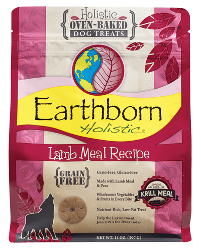 Picture of Earthborn Holistic Oven Baked Grain Free Lamb Meal Recipe Treats - 14 oz.