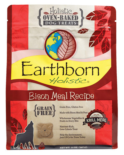 Picture of Earthborn Holistic Oven Baked Grain Free Bison Meal Recipe Treats - 14 oz.