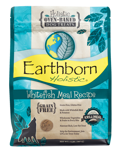 Picture of Earthborn Holistic Oven Baked Grain Free Whitefish Meal Recipe Treats - 2 lb.
