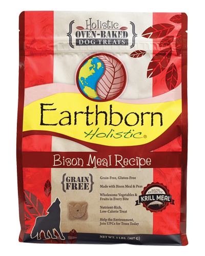 Picture of Earthborn Holistic Oven Baked Grain Free Bison Meal Recipe Treats - 2 lb.