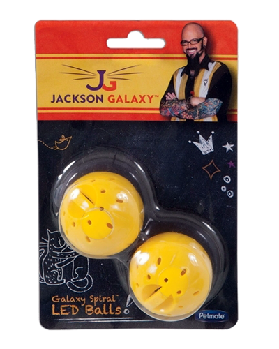 Picture of Jackson Galaxy Yellow Spiral LED Balls - 2 Pack