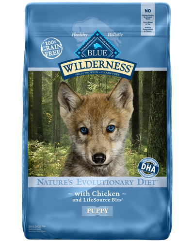 Picture of Blue Buffalo Wilderness Grain Free Chicken for Puppies - 24 lb.