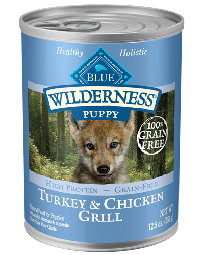 Picture of Blue Buffalo Wilderness Grain Free Turkey and Chicken Grill for Puppies - 12.5 oz.