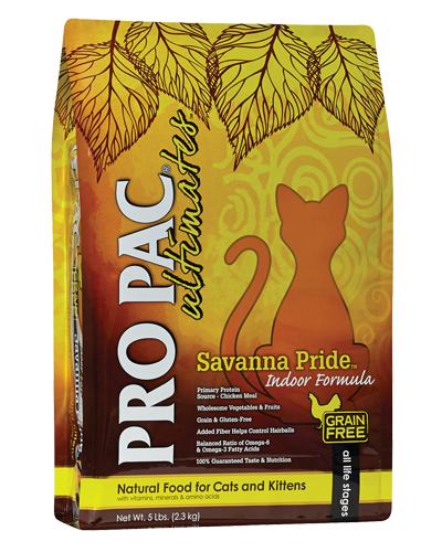 Picture of Pro Pac Ultimates Grain Free Indoor Savanna Pride Formula with Chicken Meal - 5 lb.