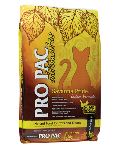 Picture of Pro Pac Ultimates Grain Free Indoor Savanna Pride Formula with Chicken Meal - 14 lb.