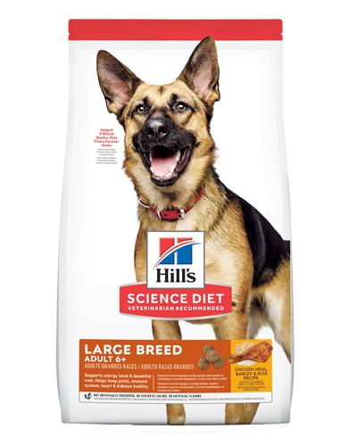 Picture of Hill's Science Diet Adult 6+ Large Breed Chicken Meal, Barley & Brown Rice Recipe Dry Dog Food - 33 lbs.