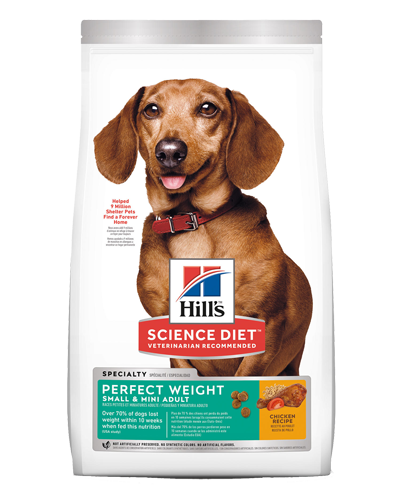 Picture of Hill's Science Diet Adult Perfect Weight Small & Mini Chicken Recipe Dry Dog Food - 4 lbs.