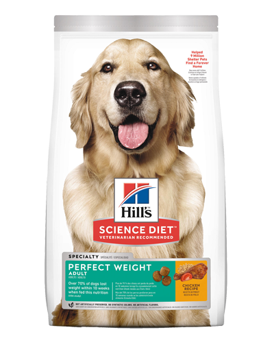 Picture of Hill's Science Diet Adult Perfect Weight Chicken Recipe Dry Dog Food - 28.5 lbs.