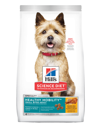 Picture of Hill's Science Diet Adult Healthy Mobility Small Bites Chicken Meal, Brown Rice, & Barley Recipe Dry Dog Food - 15.5 lbs.