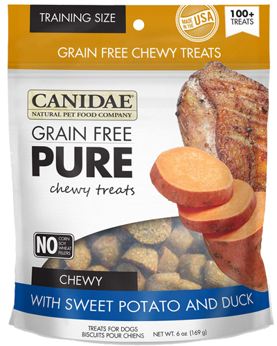 Picture of Canidae PURE Grain Free Chewy Dog Treats with Sweet Potato and Duck - 6 oz.