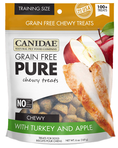 Picture of Canidae PURE Grain Free Chewy Dog Treats with Turkey and Apple - 6 oz.