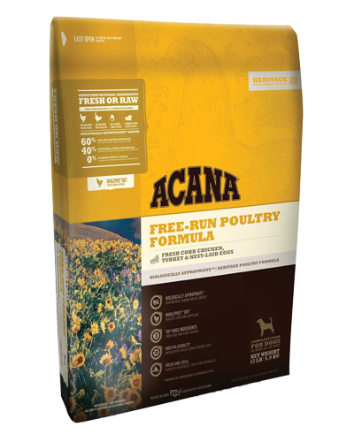 Picture of Acana Heritage Grain Free Free-Run Poultry - 25 lb.