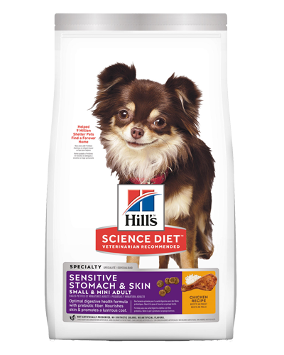 Picture of Hill's Science Diet Adult Sensitive Stomach & Skin Small & Mini Chicken Recipe Dry Dog Food - 4 lbs.