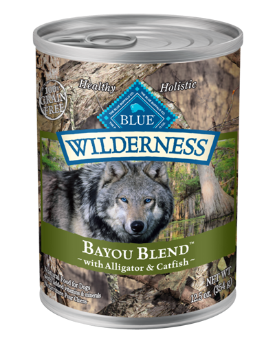 Picture of Blue Buffalo Wilderness Grain Free Bayou Blend with Alligator and Catfish - 12.5 oz.