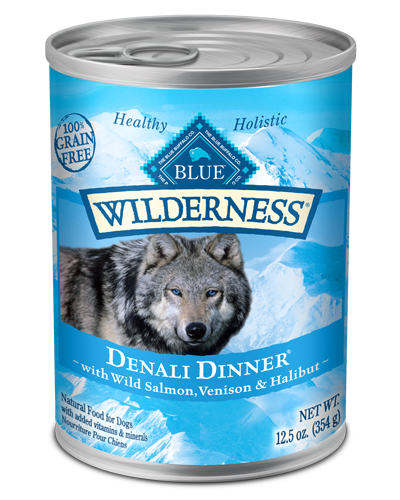 Picture of Blue Buffalo Wilderness Grain Free Denali Dinner with Wild Salmon, Venison, and Halibut - 12.5 oz.