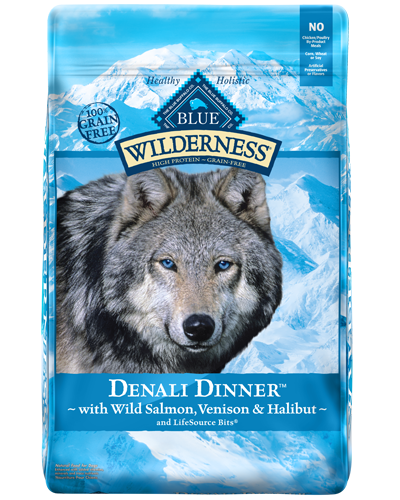 Picture of Blue Buffalo Wilderness Grain Free Denali Dinner with Wild Salmon, Venison, and Halibut - 22 lb.