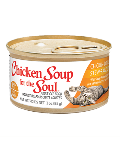Picture of Chicken Soup for the Soul Grain Free Chicken Stew with Sweet Potatoes and Spinach - 3 oz.