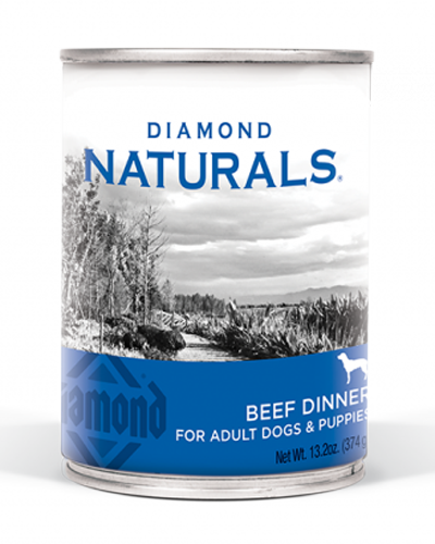 Picture of Diamond Naturals Beef Dinner for Adults & Puppies - 13.2 oz.