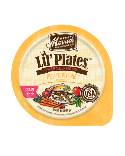 Picture of Merrick Lil' Plates Grain Free Petite Pot Pie with Chicken - 3.5 oz