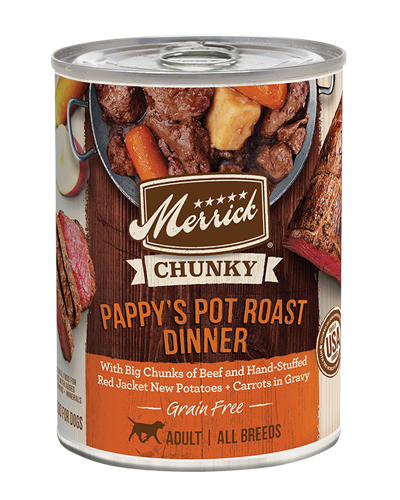 Picture of Merrick Chunky Pappy's Pot Roast Dinner Grain Free Recipe - 12.7 oz.