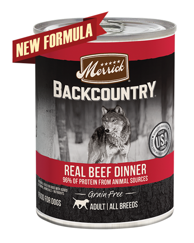 Picture of Merrick Backcountry Grain Free 96% Real Beef Formula - 12.7 oz.