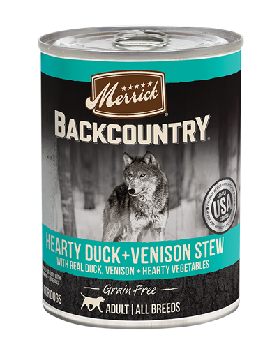 Picture of Merrick Backcountry Grain Free Hearty Duck + Venison Stew - 12.7 oz.