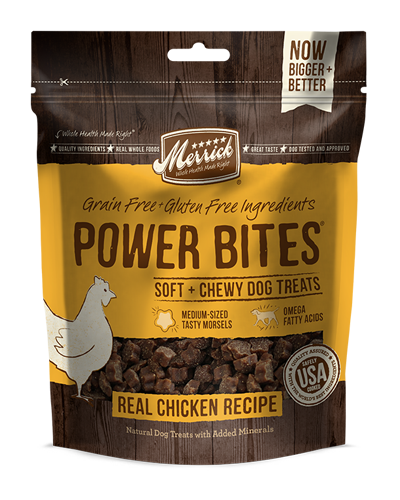Picture of Merrick Power Bites Grain Free Real Chicken Recipe Soft + Chewy Treats - 6 oz.
