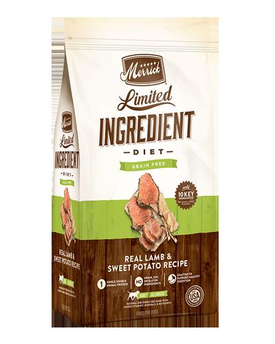 Picture of Merrick Limited Ingredient Diet Grain Free Real Lamb + Sweet Potato Recipe - 22 lbs.
