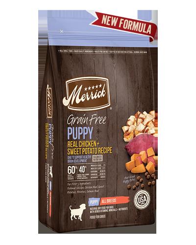 Picture of Merrick Grain Free Real Chicken + Sweet Potato Puppy Recipe - 10 lbs.