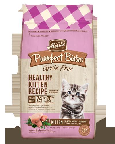 Picture of Merrick Purrfect Bistro Grain Free Healthy Kitten Recipe with Chicken - 4 lb.