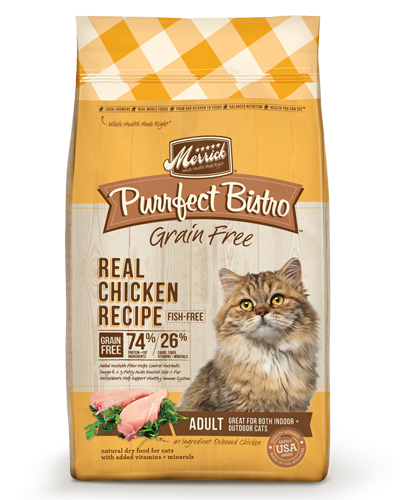 Picture of Merrick Purrfect Bistro Grain Free Adult Real Chicken Recipe - 4 lb.