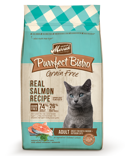 Picture of Merrick Purrfect Bistro Grain Free Adult Real Salmon Recipe - 4 lb.