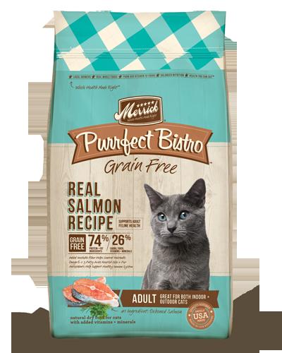 Picture of Merrick Purrfect Bistro Grain Free Adult Real Salmon + Sweet Potato Recipe - 4 lb.