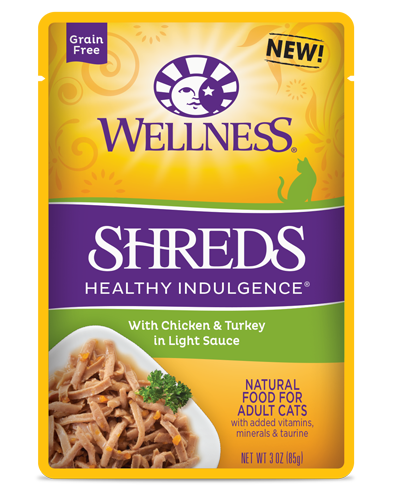 Picture of Wellness Grain Free Healthy Indulgence Shreds Chicken & Turkey - 3 oz.