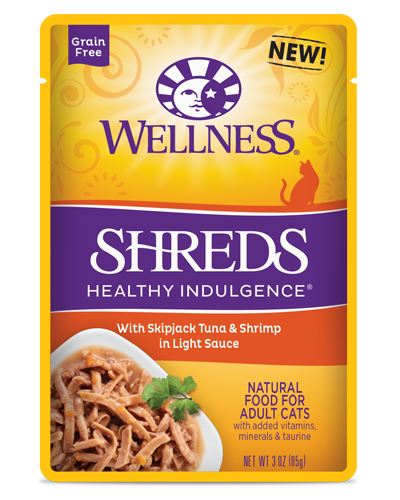 Picture of Wellness Grain Free Healthy Indulgence Shreds Tuna & Shrimps - 3 oz.