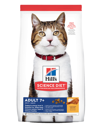 Picture of Hill's Science Diet Adult 7+ Chicken Recipe Dry Cat Food - 16 lbs.
