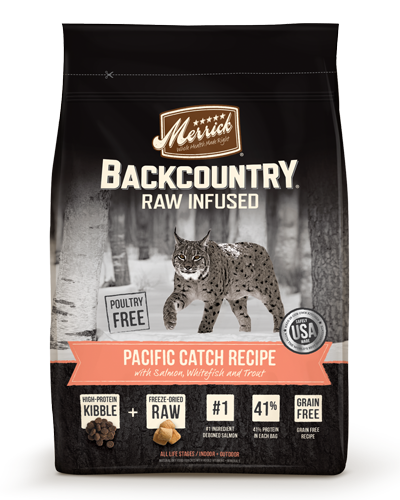 Picture of Merrick BackCountry Raw Infused Grain Free Pacific Catch Recipe with Salmon, Whitefish, and Trout - 3 lb.