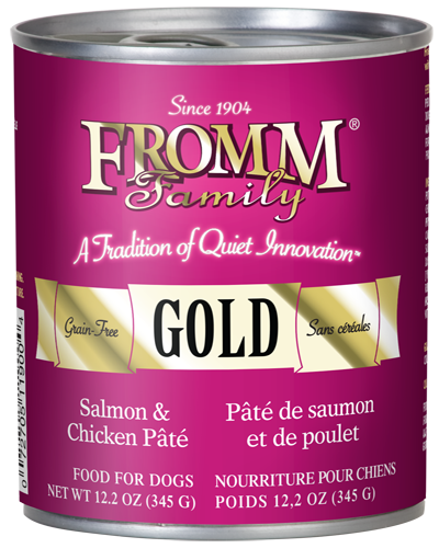 Picture of Fromm Gold Grain Free Salmon and Chicken Pate - 12.2 oz.