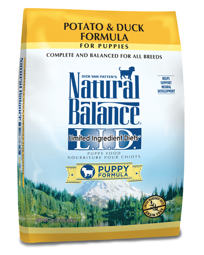 Picture of Natural Balance Grain Free Limited Ingredient Diet Potato and Duck Puppy Formula - 24 lb.