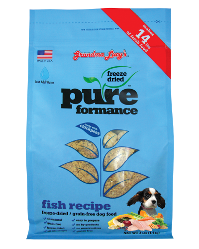 Picture of Grandma Lucy's Pure Performance Freeze Dried Grain Free Fish Formula with Chickpeas - 3 lb.