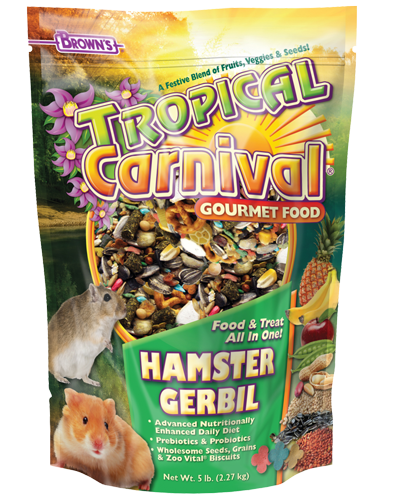 Picture of Brown's Tropical Carnival® Gourmet Hamster & Gerbil Food - 2 lb.