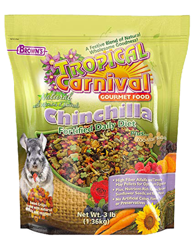 Picture of Brown's Tropical Carnival® Natural Chinchilla Fortified Daily Diet - 3 lb.