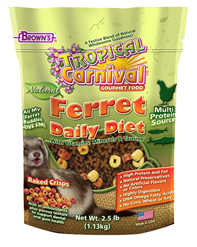 Picture of Brown's Tropical Carnival® Natural Ferret Fortified Daily Diet - 2.5 lb.