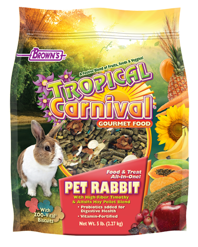 Picture of Brown's Tropical Carnival® Gourmet Pet Rabbit Food - 5 lb.